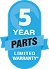 Amana PTAC 5 Year Parts Limited Warranty
